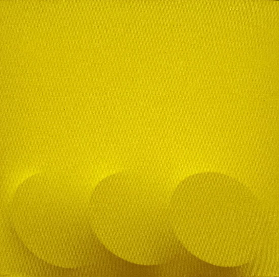 Turi Simeti (1929)  Tre ovali gialli, 2008