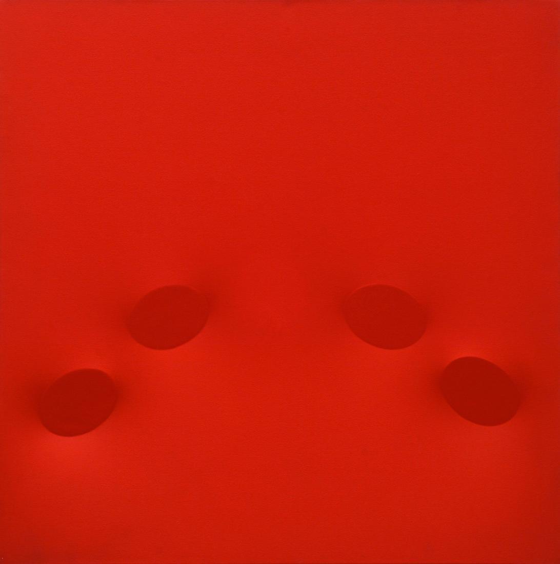 Turi Simeti (1929)  Quattro ovali rossi, 2005