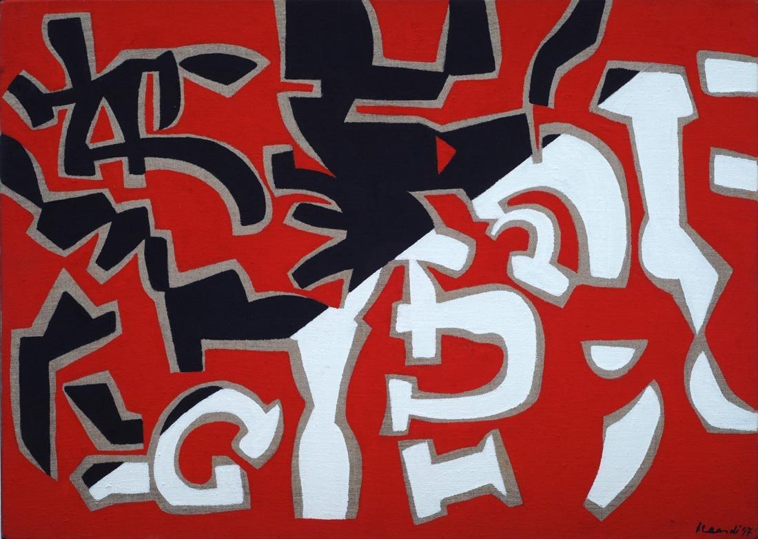Carla Accardi (1924-2014)  Bianco rosso e nero, 1997