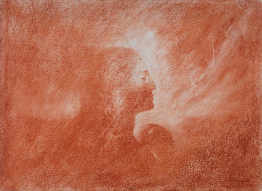 Omar Galliani (1953) Senza titolo 1987