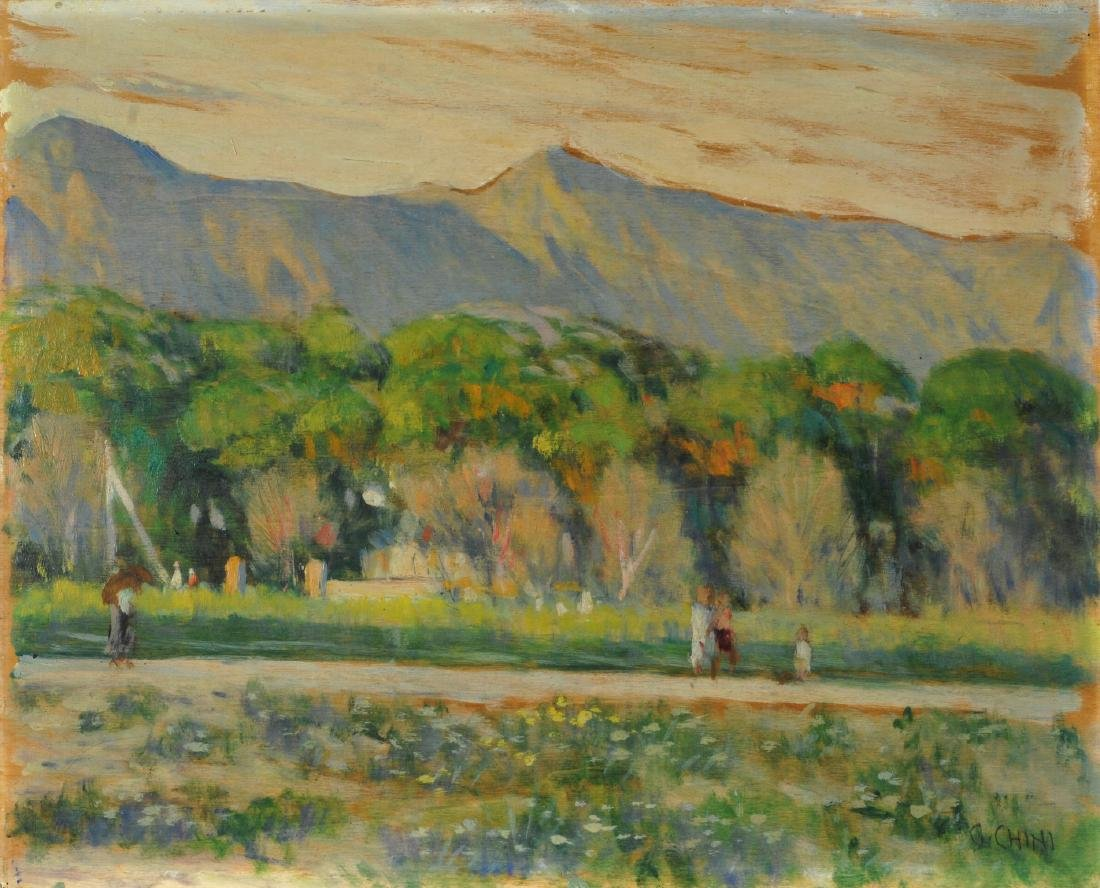 Galileo Chini (1873-1956) Ultime luci in Versilia 1945