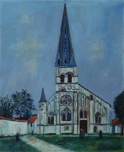 Maurice Utrillo (1883-1955) Eglise de village (1919)