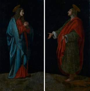 Scuola Fiorentina, sec. XVII San Giovanni e la Vergine