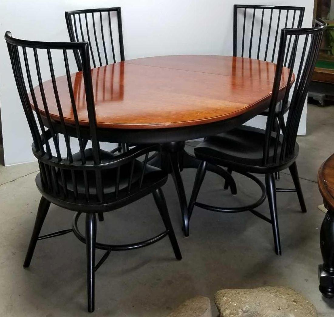 Beautiful Thomasville Pedestal Dining Table And 4 High Backchairs With  Large Leaf