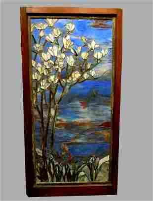 Rare Tiffany Studios New York Flowering Dogwood Stain