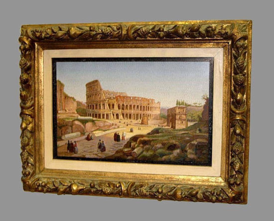 19th Century Micromosaic Plaque Colosseum Rome Grand