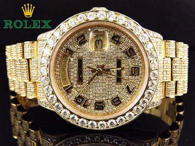 Iced Out 15Ct. Rolex Day Date 18kt Gold President 18038