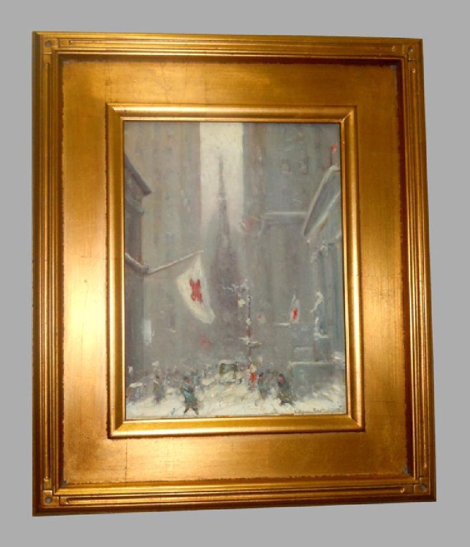 Johann Berthelsen Wall Street in Winter 1939 NYC Red