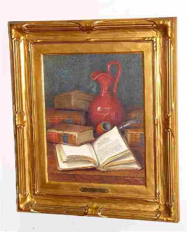 Claude Raguet Hirst NY Watercolor Still Life Painting