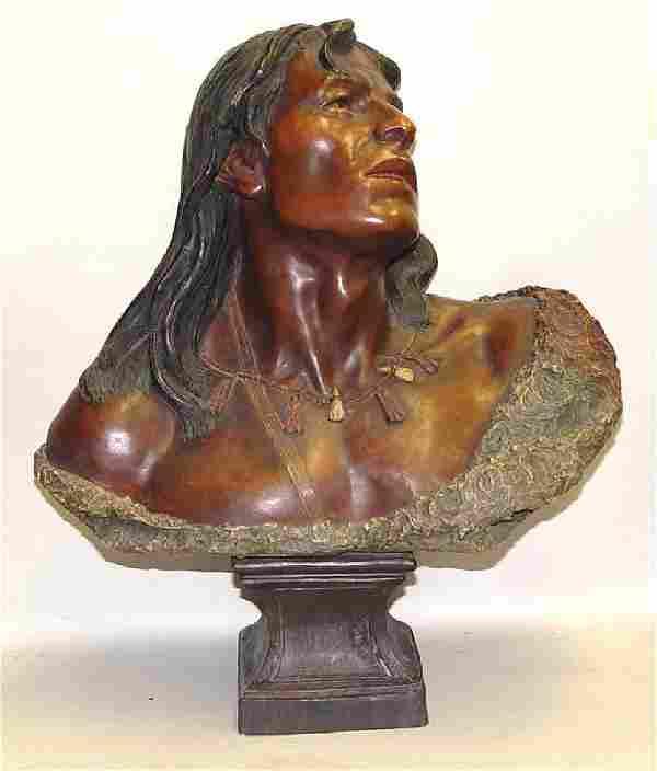 Friedrich Goldscheider Native American Indian Ceramic