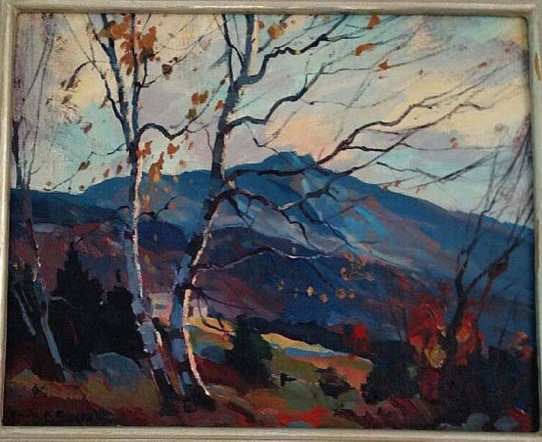 Emile Albert Gruppe Oil Canvas Board Painting Mt.