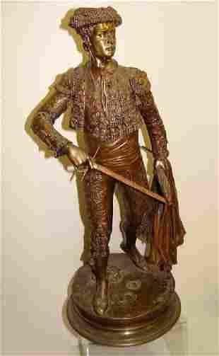 Pierre Jules Mene Bull Fighter Bronze Matador Sculpture