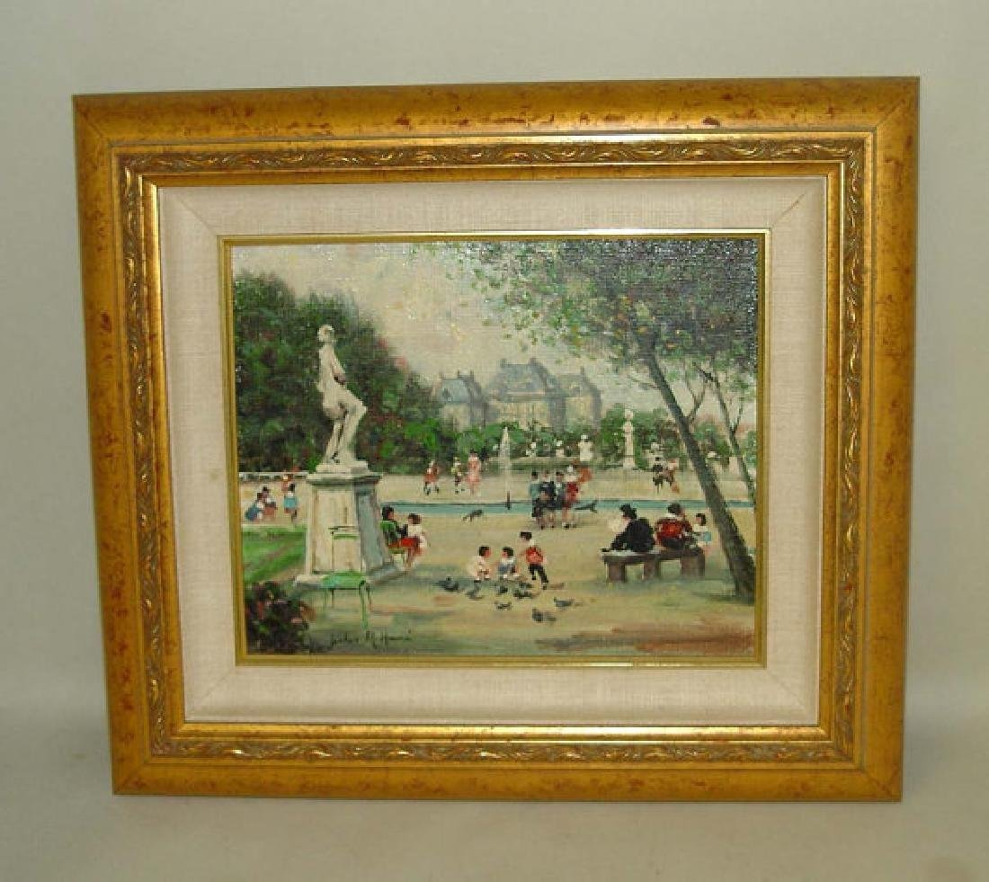Jules Rene Herve Children In The Park Oil on Canvas