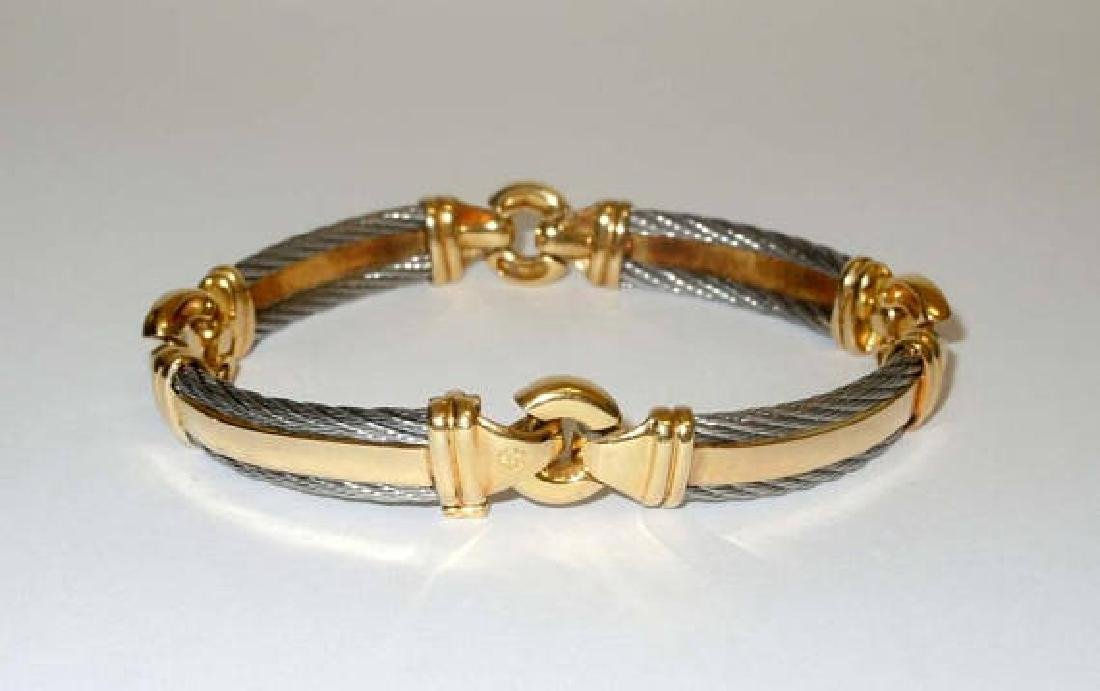 Philippe Charriol 18k Gold & Stainless Steel 10mm Cable