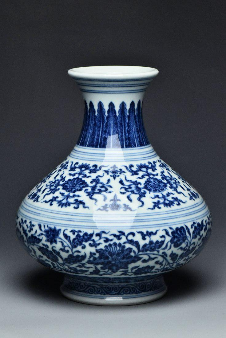 A QING DYNASTY VASE YONGZHENG MARK AND PERIOD