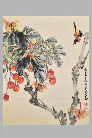 ZHAO SHAO ANG(1905-1998), INK AND COLOR ON PAPER