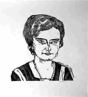 Max Beckmann Bildnis Frau H.M. Naila signed original