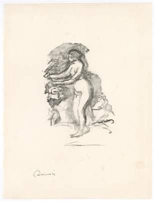 """Pierre-Auguste Renoir """"Femme au cep de vigne"""" original"""