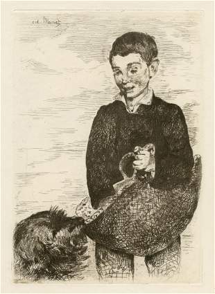 "Edouard Manet original etching ""Le Gamin"" The Urchin -"