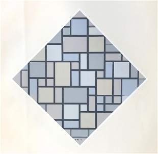 """Piet Mondrian serigraph """"Composition avec couleurs"""