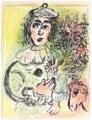 """Marc Chagall original lithograph """"Le Clown Amoureux"""""""