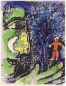 """Marc Chagall original lithograph """"Le Profil et l'enfant"""