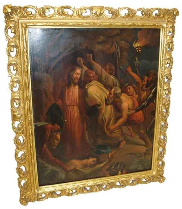 25: Old Master style religious oil on copper panel