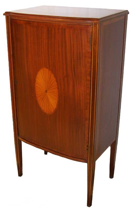 27: 19th C. mahogany single door music cabinet