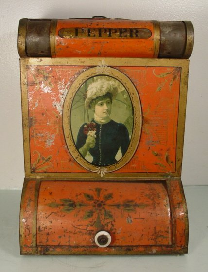 6A: ANTIQUE COUNTRY STORE PEPPER DISPLAY BIN