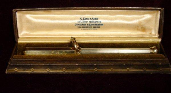 14A: FINE CARTIER ANTIQUE 14 K GOLD PENCIL