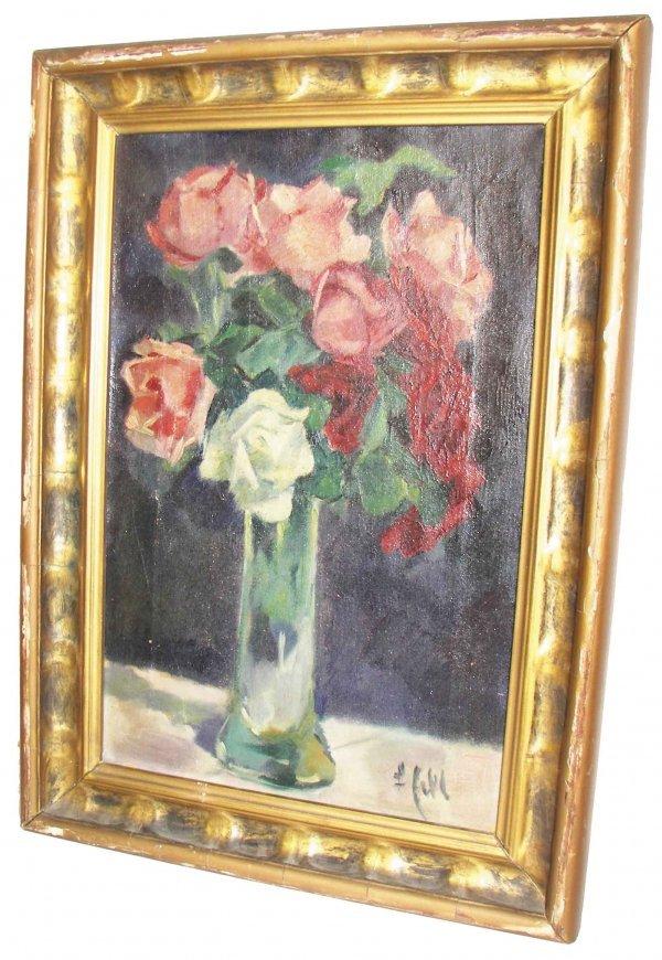23A: Early 20th C. o/c flowers sgd. Julian Falat
