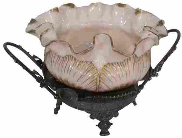 19th C. American Victorian brides basket