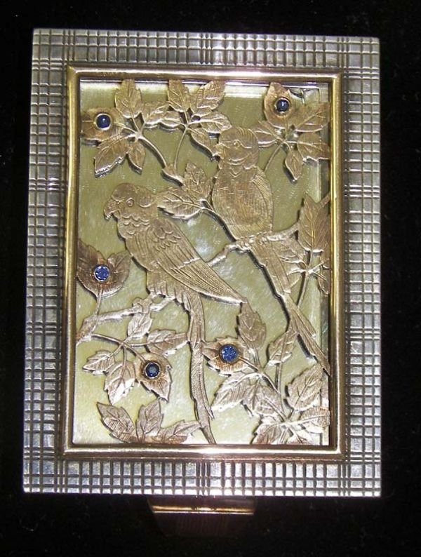 275A: Rare art deco compact marked Boucheron - Paris