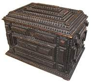 675: 19th C. tramp art jewelry box