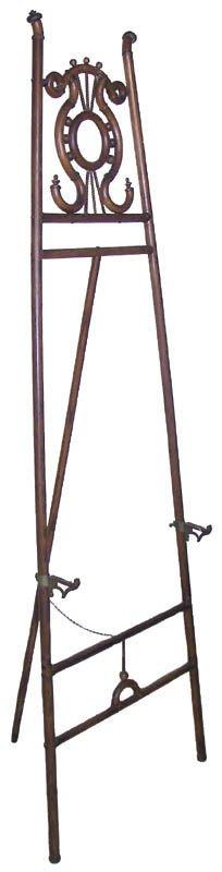 32: Ca. 1890 American Quartersawn Oak bentwood easel