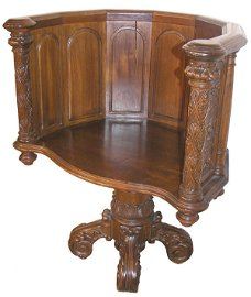 133: Gothic Revival American swivel library chair