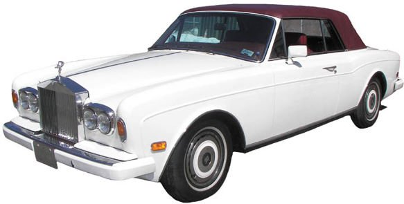 303: 1989 White Rolls Royce Corniche II Convertible