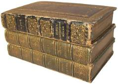 1317: 3 Fore-edge painted books,poems & Greek testament