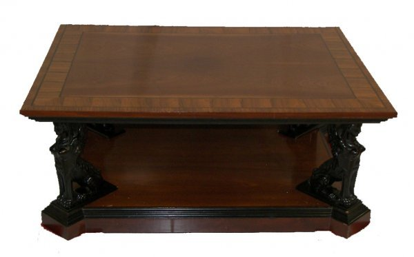 7: Fine quality rosewood coffee table with winged sphin