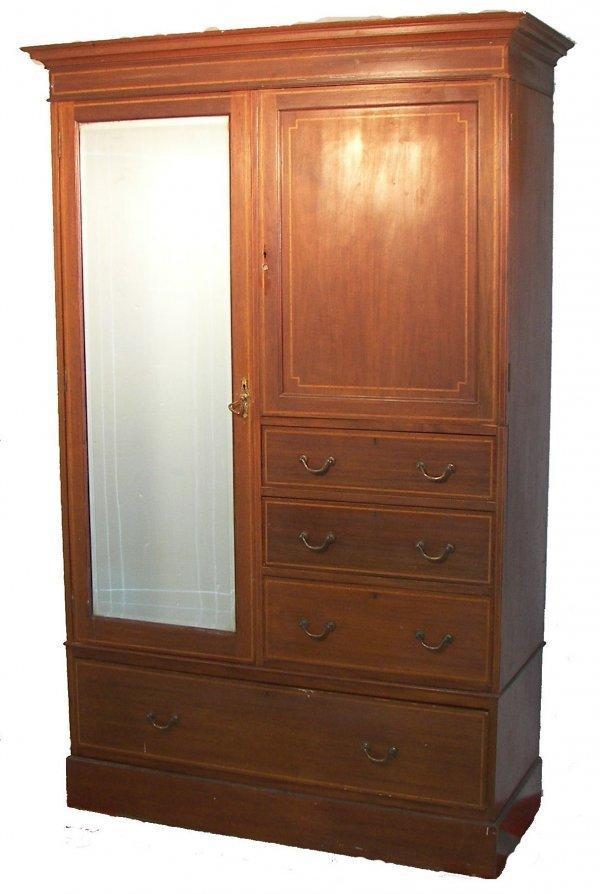 8: Hepplewhite style armoire