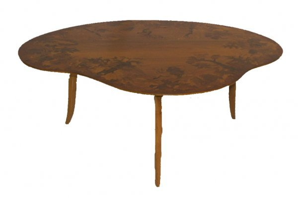 9: 19th C. American figural carved oak round diningroom