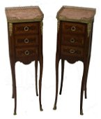 332: Pair of 19th C. French LXVI style bronze mounted m