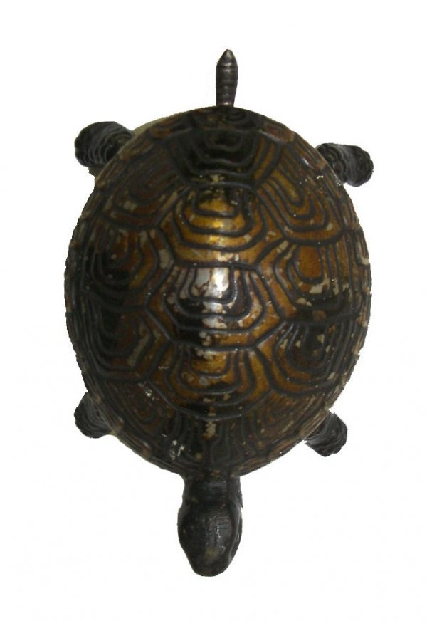 22: Ca. 1880 German clockwork cast iron turtle hotel ca