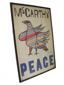 542: Original framed McCarthy Peace poster signed Ben S