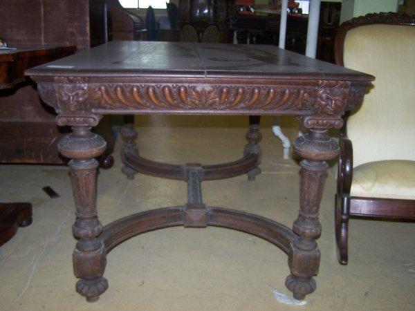 """5: Antique oak extension table28""""h x 55""""w x 35""""d"""