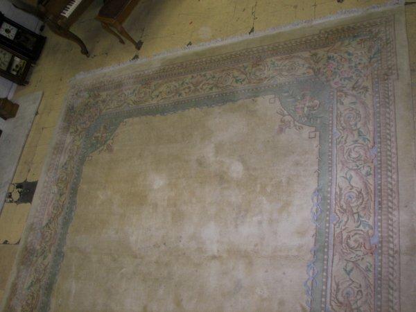 8: 11.9 x 19.7 Savonnrie carpet?AS IS
