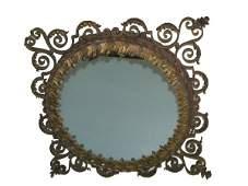 906 Ca 1910 bronze  iron mirror attrib Oscar Bach