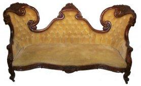 317: Belter rosewood cornucopia carved sofa