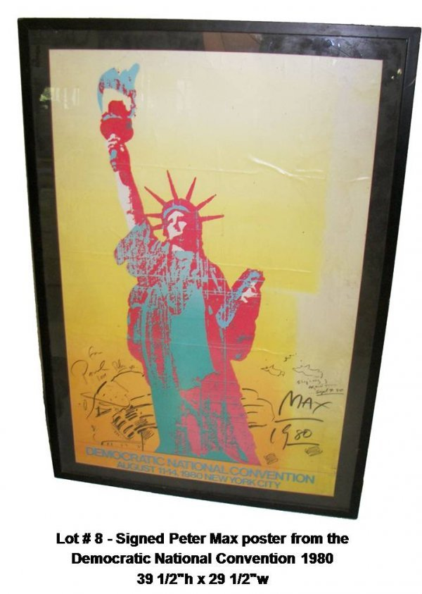 8: Original sgd.  Peter Max poster 1980 convention
