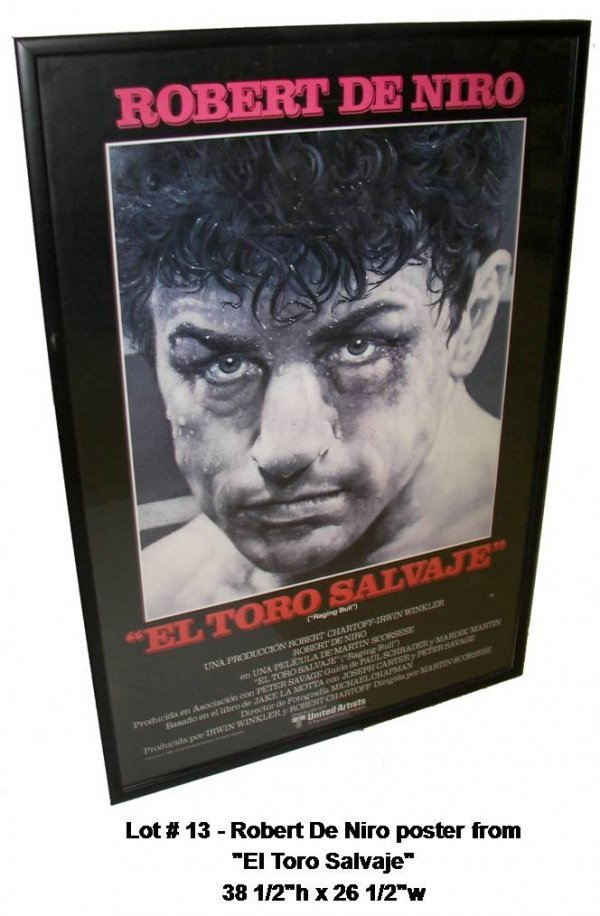 "13: Robert De Niro poster from ""El Toro Salvaje"""
